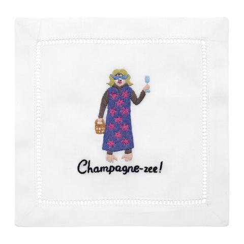 $40.00 Champagne-Zee Cocktail Napkins set/4
