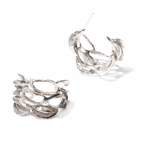 Banksia Hoop Earring - Silver collection with 1 products