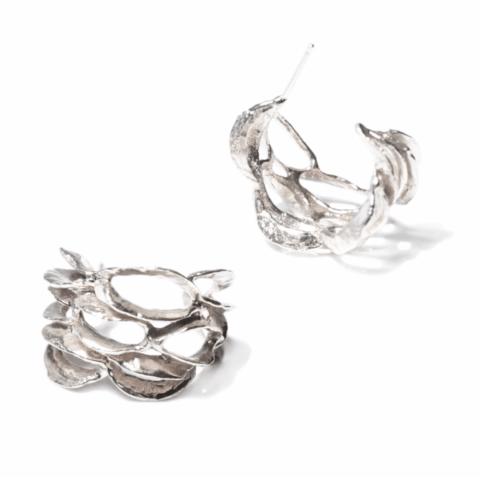$275.00 Banksia Hoop Earring - Silver