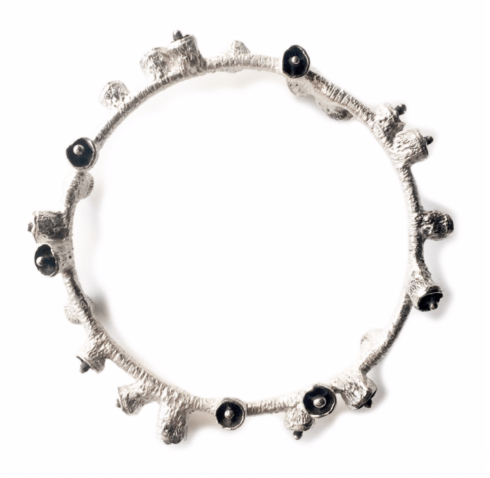 Bell Pod Bangle - Silver with Oxidation collection with 1 products