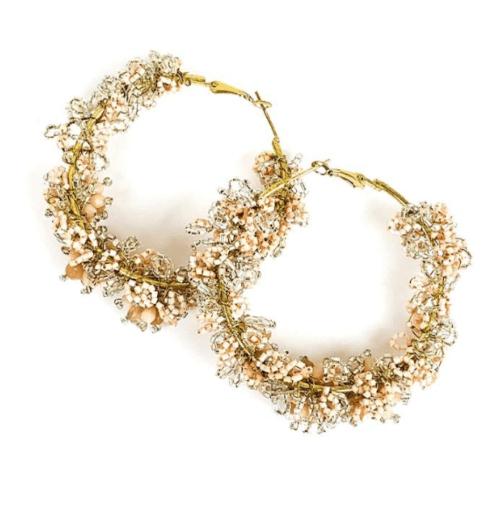 $70.00 Blush Hoop Earrings