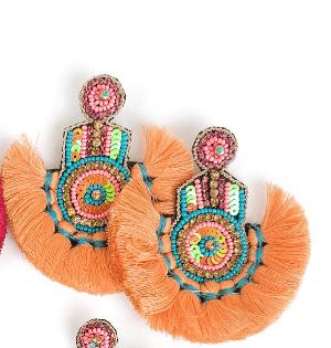 $70.00 Britt Earrings Coral