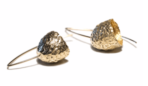$198.00 Capule Earrings - Yellow Bronze