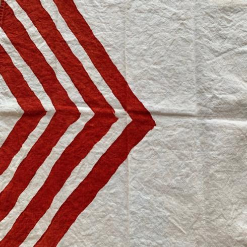 Chevrons Dipinto Rosso Napkin collection with 1 products