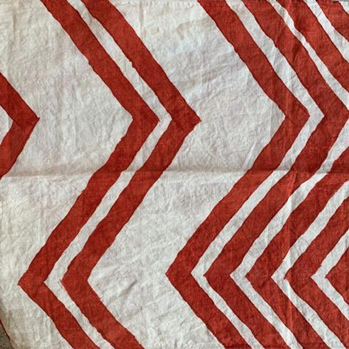 $144.00 Chevrons Dipinto Rosso Table Runner