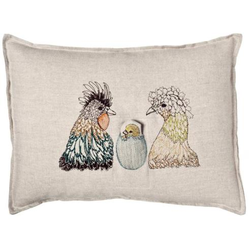 "$112.00 CHICK POCKET PILLOW 12""X16"""