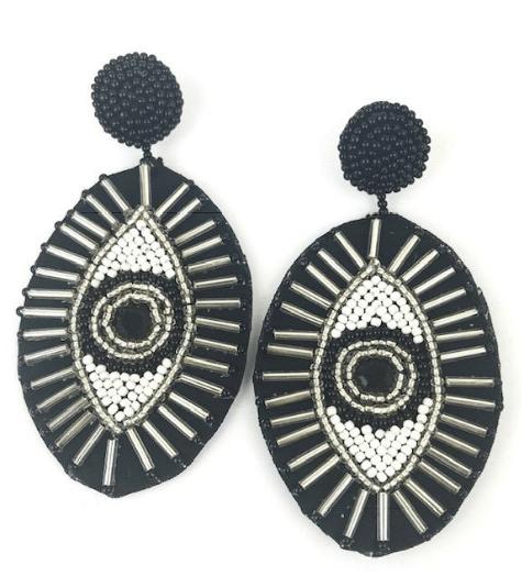 $68.00 Eye Drop Earrings