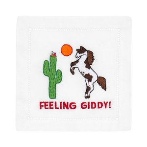 $40.00 FEELING GIDDY HORSE COCKTAIL NAPKINS