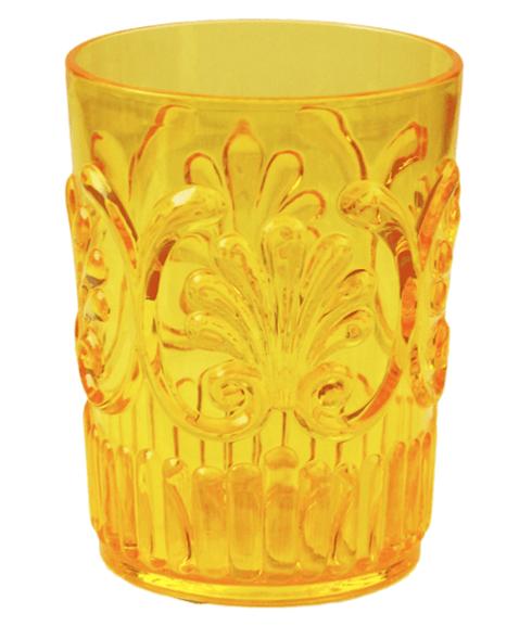 $9.00 Fleur Yellow Tumbler