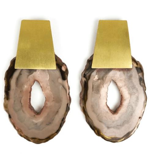 $68.00 Geode Earrings