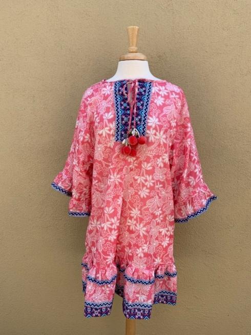 $98.00 Bandana Dress, Pink, M