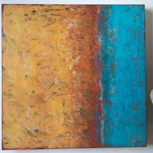 $1,400.00 Setting Sun by Ginnie Cappaert