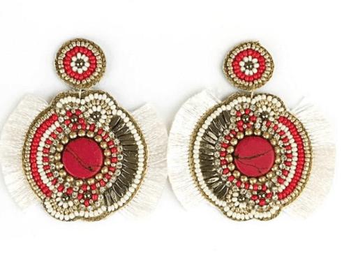 $70.00 Ivory Fringe Earrings
