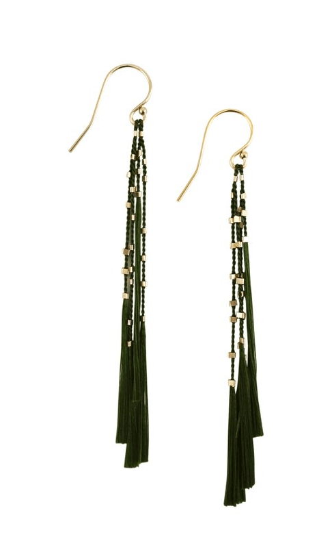 $86.00 Lala Earrings - Moss