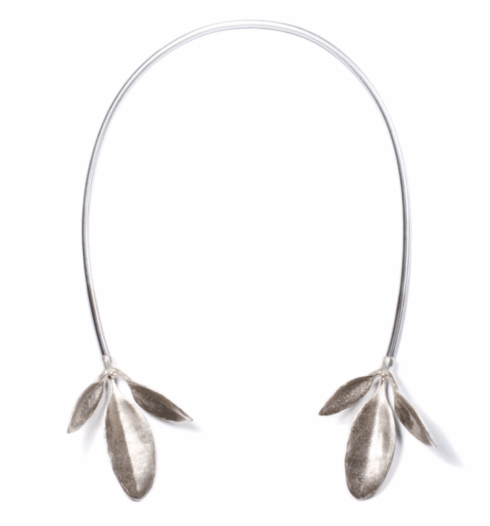 $450.00 Leaves Neck Cuff - Silver