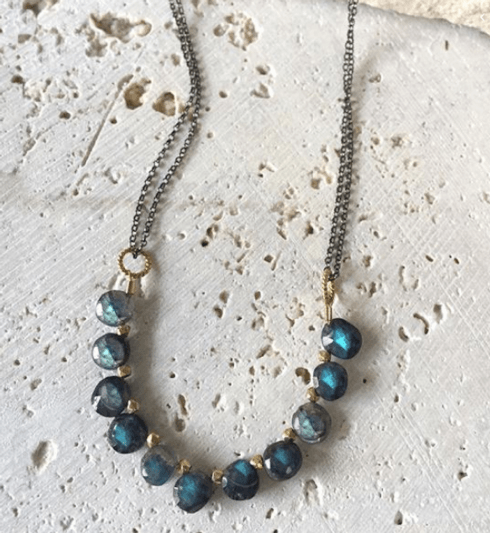 Blue Labradorite Collar Necklace
