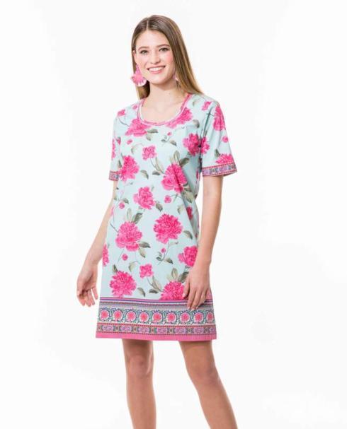$105.00 Sky Peony Shirt Dress, L