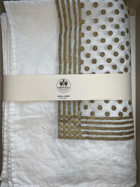 $298.00 Pois Pieno Oro Tablecloth