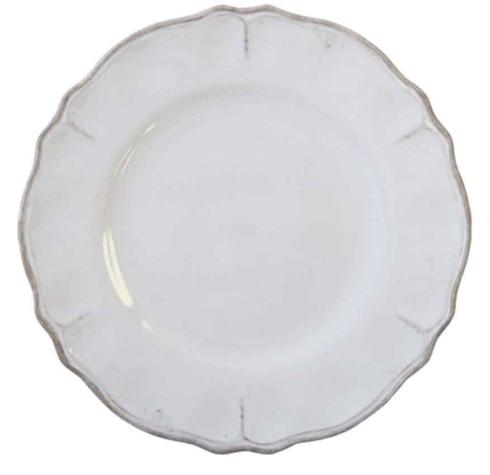 "$14.00 Rustiqua Antiqua White 9"" Salad Plate"