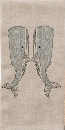 $42.00 Whale Love Tea Towel