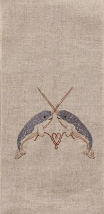 $42.00 Narwhal Love Tea Towel