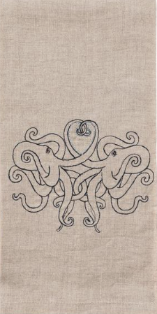 $42.00 Octopus Love Tea Towel