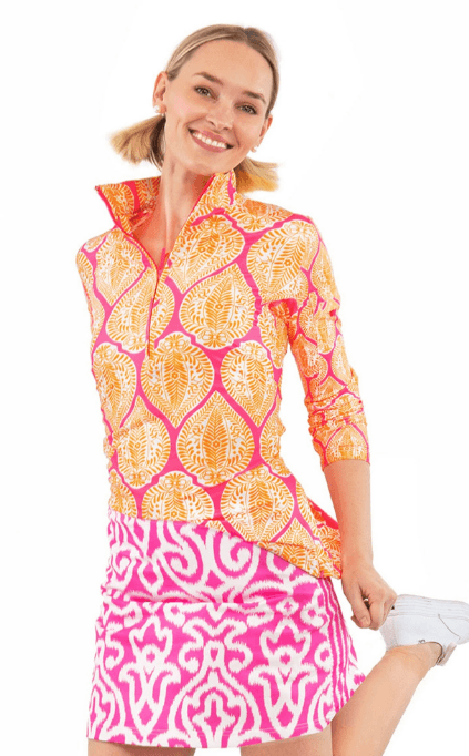 $129.00 Skippy Skort in Pink Arabesque L