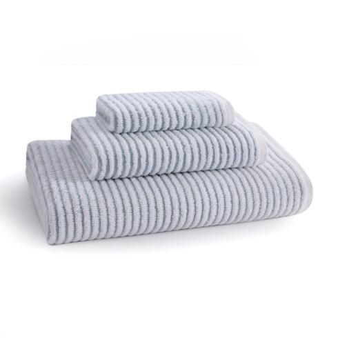 Sullivan Ribbed Hand Towel Sterling Blue