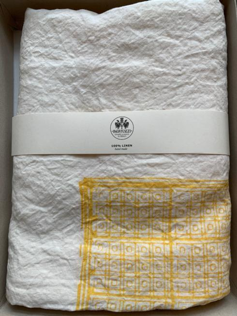 $370.00 Taormina Giallo Liberty Tablecloth