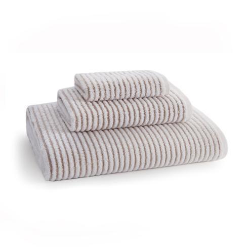 Sullivan Ribbed Hand Towel Taupe