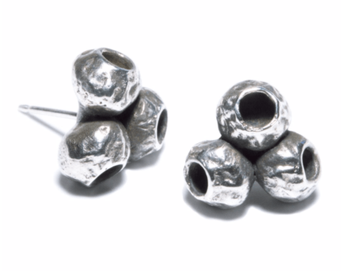$140.00 TriPod Earrings - Silver