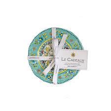 $35.00 Madrid turquoise set of 4 appetizer plates