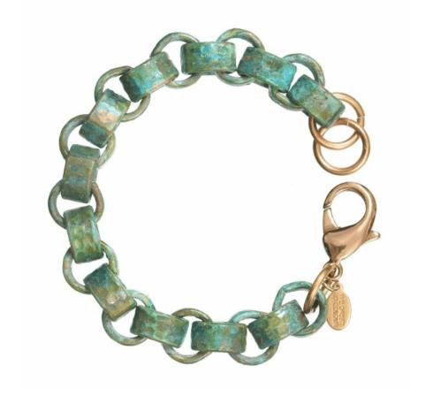 $75.00 Verdigris Seville Bracelet