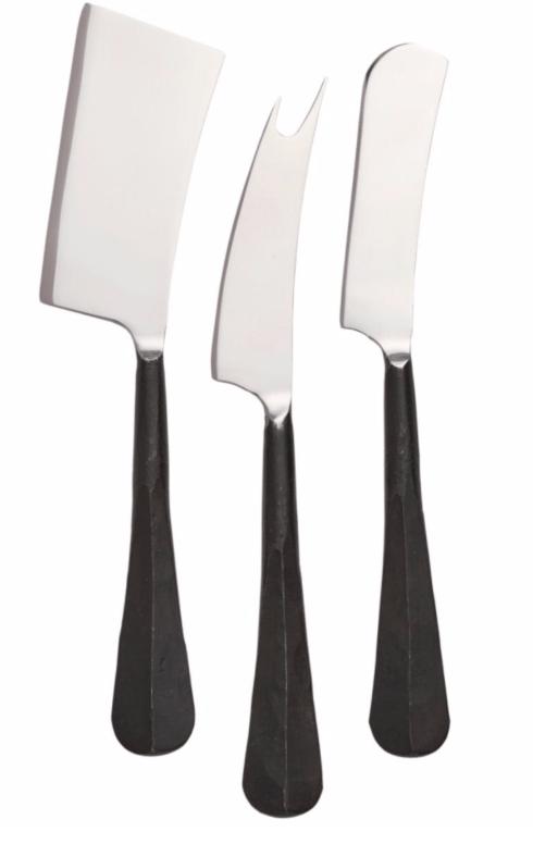 $55.00 Woodbury Black Cheese Knife Set
