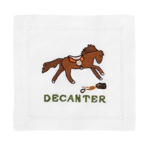 $36.00 DECANTER HORSE COCKTAIL NAPKINS