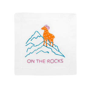 $40.00 ON THE ROCKS COCKTAIL NAPKINS
