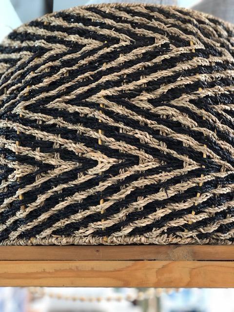 Serendip Exclusives   Large Chevron Seagrass Basket $110.00