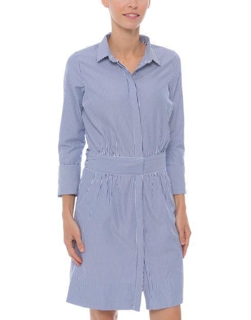 $59.50 Breezy Blouson Dress, Blue, S