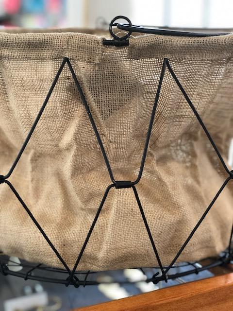 Serendip Exclusives   Black Hanging Basket $58.00