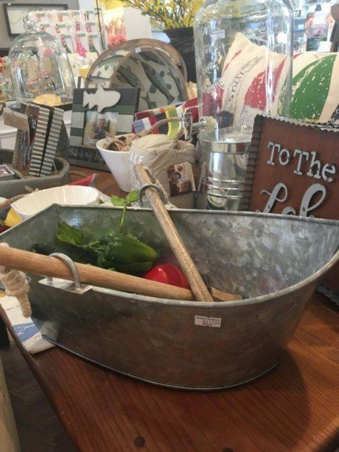 Southern Traditions Exclusives   Metal salad boat server $41.99