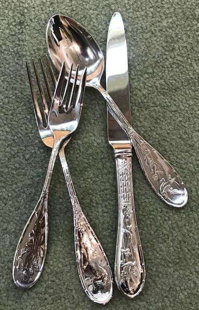Ricci  Japanese Bird Stainless - Five Piece Place Setting $85.00