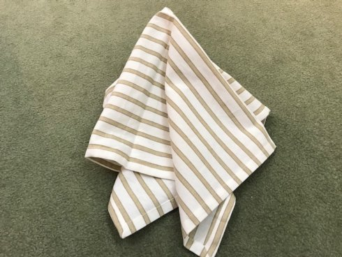 Saro Designs   Tan Stripe Napkin $8.00