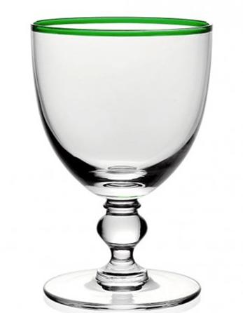 $65.00 Siena Water Glass-Green
