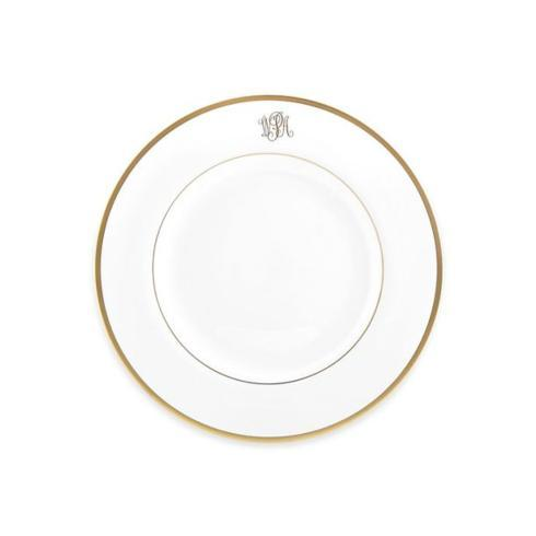 $59.00 Signature Gold - Salad Plate with Monogram