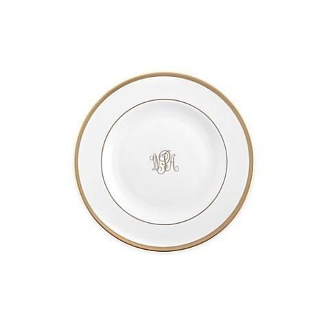 $55.00 Signature Gold Bread & Butter Plate with Monogram