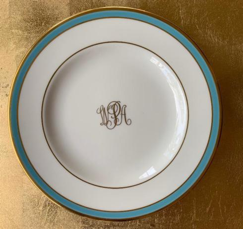 Pickard Signature   Signature Bread and Butter w/ Turquoise Band $55.00