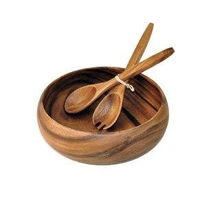 Round Wooden Salad Set collection with 1 products