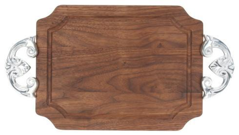 Carving Board with Carved Initial