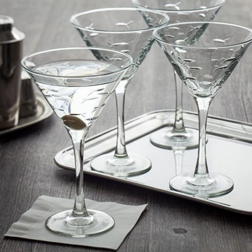 $54.50 School of Fish - Set of 4 Martini