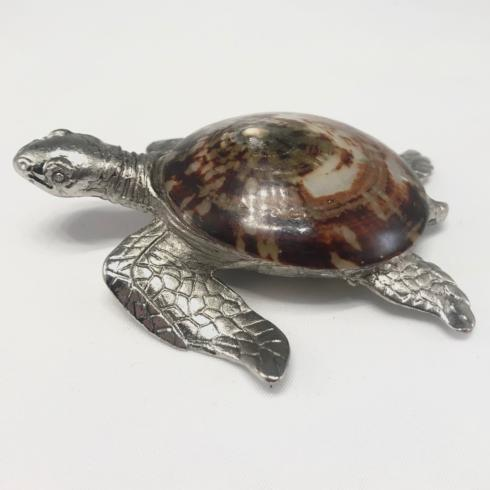 Timothy De Clue   Pewter & Shell Sea Turtle Small $69.95